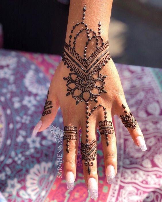 mehandi design for small girls