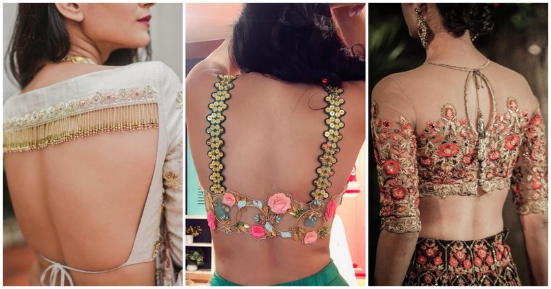 Image result for window style back saree blouse