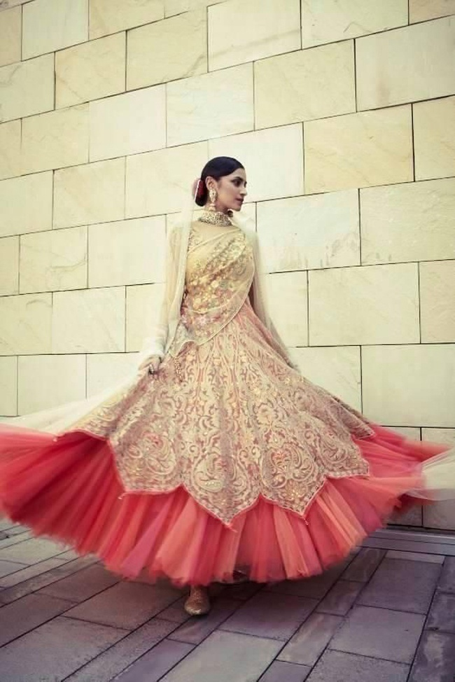 Scalloped Edging or Borders - A New Twist to Indian Bridal Wedding Dresses