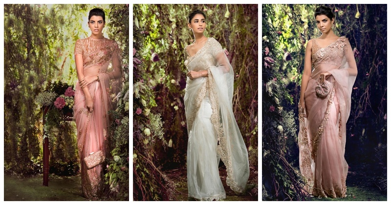 10 Stunning Shyamal Bhumika Pastel Sarees for Your Cocktail