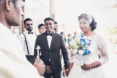 Bride and Groom entering the Church for their wedding!