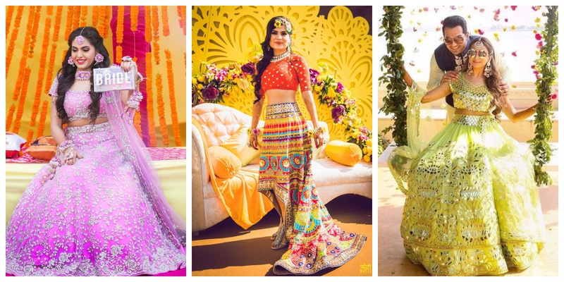 25 Mehndi dresses and outfits trending this wedding season