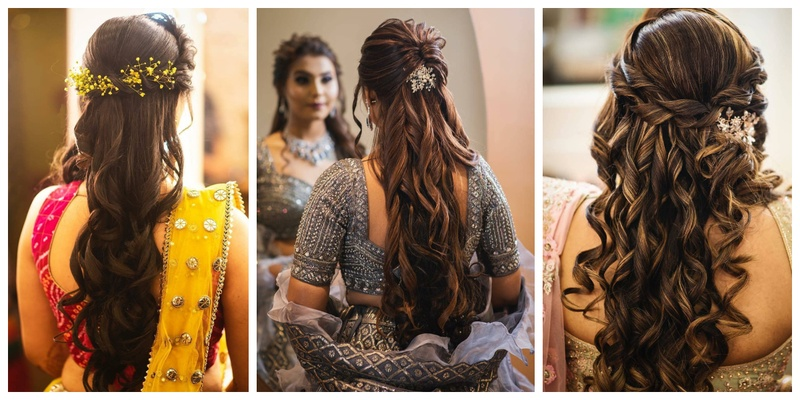 These Stunning Open Hair Bridal Hairstyles are perfect for your pre-wedding functions!