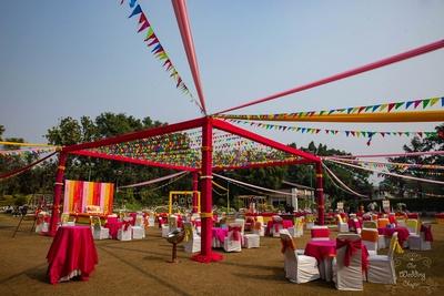 The Mehendi ceremony decor was fun and so vibrant!