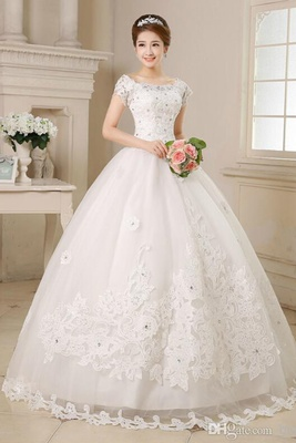 Laced White Ball Gown