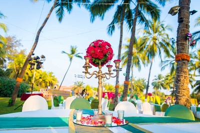 Colourful and eye catching wedding decor