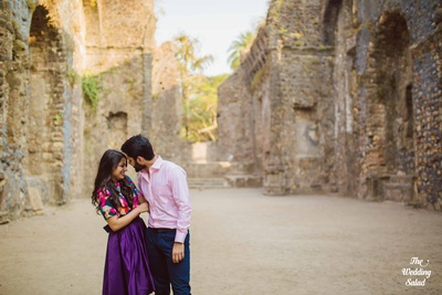 Cute and romantic pre wedding shoot at Vasai fort Mumbai