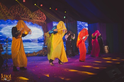 Fun ideas for sangeet ceremony. Rushi and Disha's sangeet hled with a Morrocan theme