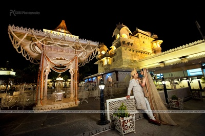 Regal wedding venue at Jagmandir, Udaipur