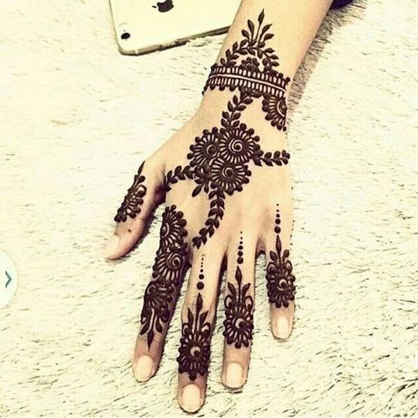 Arabic Bridal Mehndi Designs for Hands