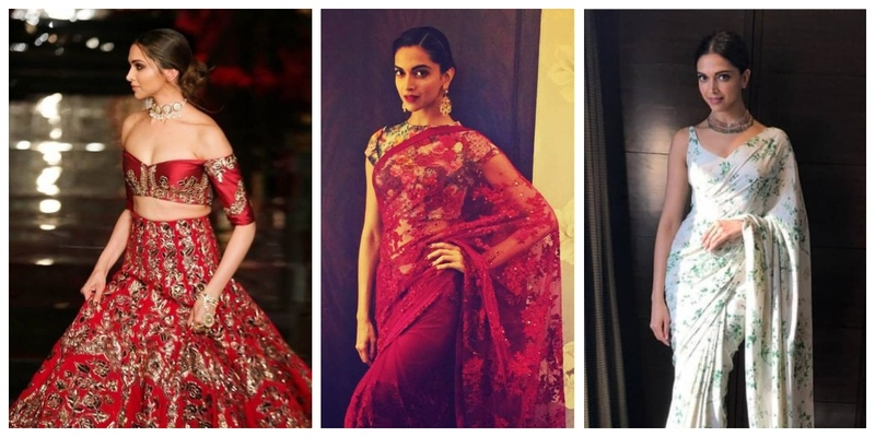 10 lehenga and saree looks on Deepika Padukone which should be on every bridesmaid's shortlist!
