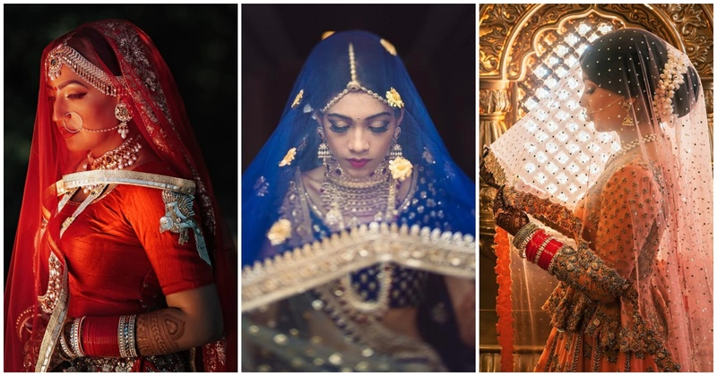 12 gorgeous brides who reinforced our love for veils with lehengas!