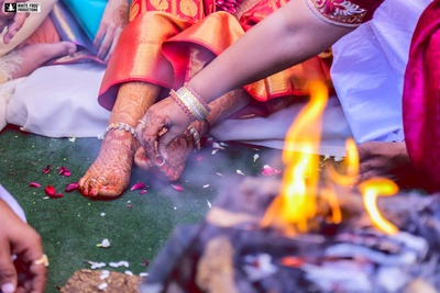 South Indian wedding rituals.
