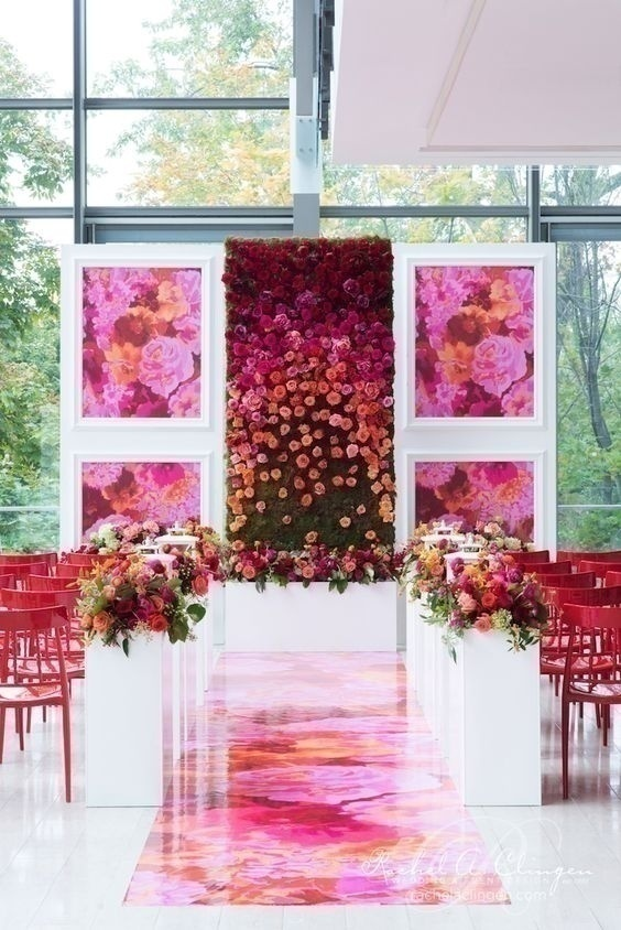 Watercolor Wedding Stage Decoration