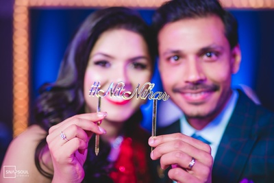 The personalised hashtag for the wedding was #NitNihar.