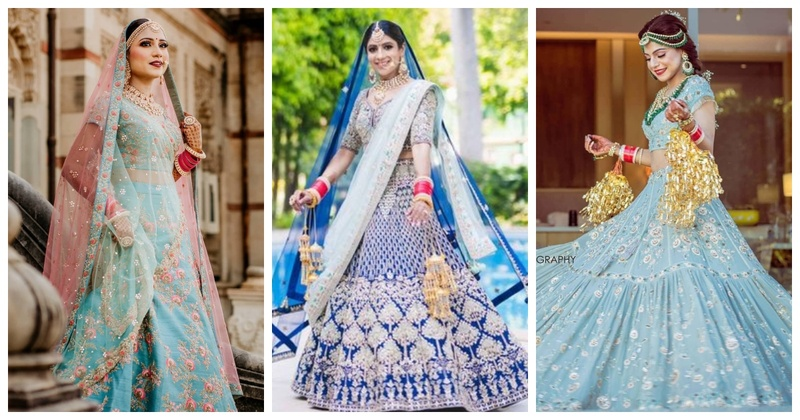 10 trending blue bridal lehengas you cannot resist adorning!