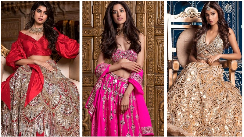 Miss India contestants in Sandeep Khosla's latest collection is every bride & bridesmaid's wedding outfit goals for 2018!