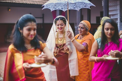 Bride entering the wedding ceremony.