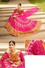 Variation Pink Satin Bridal Lehenga Choli image
