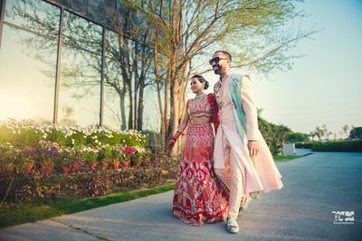 beautiful outdoor decor ideas for post wedding couple shoot