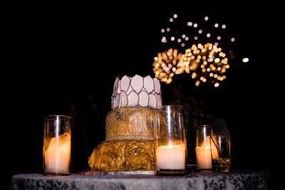 grand cake for the reception ceremony