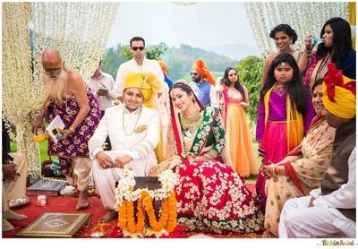 Havan kund decked with marigold and jasmine