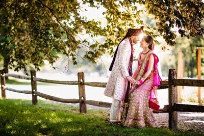 cute couple shot in an outdoor setting