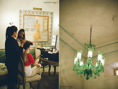 Antique lamp shaped crystal shaped chandelier