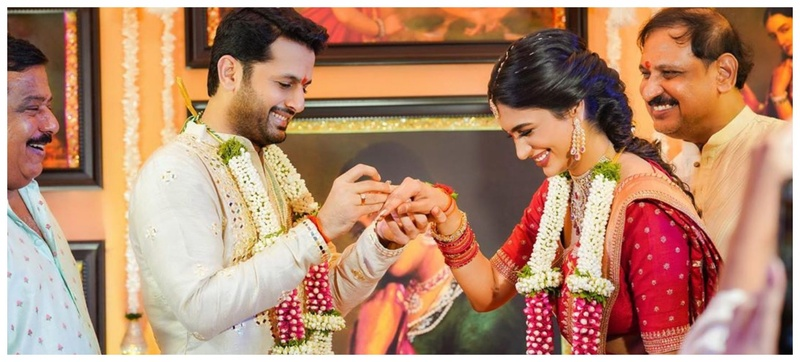 An Intimate Lockdown Celebrity Ring Ceremony: Actor Nithiin Gets Engaged to Shalini Kandukuri