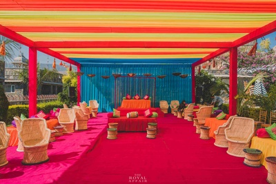 Quirky and colorful venue for mehendi function