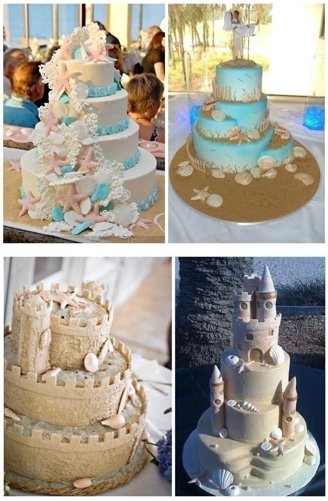 BEACH WEDDING CAKES