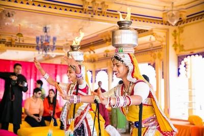 Rajasthani dancers performing at Mehendi Ceremony.
