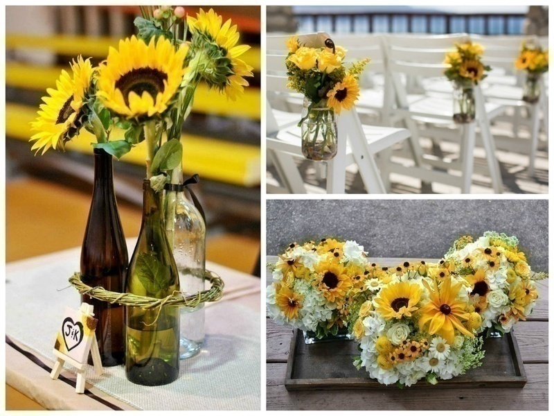 BRIGHT SUNFLOWERS FOR A CHEERFUL WEDDING VIBE