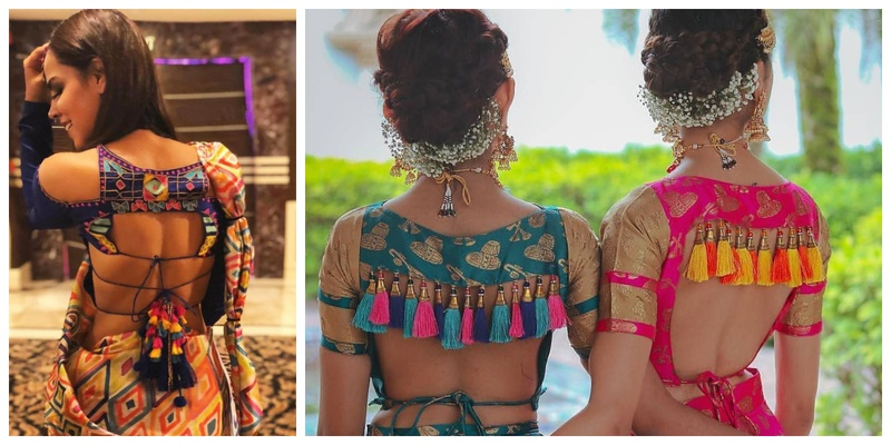 Blouse back design ideas for your wedding saree & lehenga!