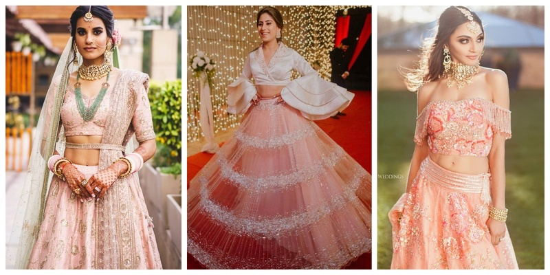 10 Peach Toned Lehengas Perfect for the Upcoming 2019 Wedding Season!