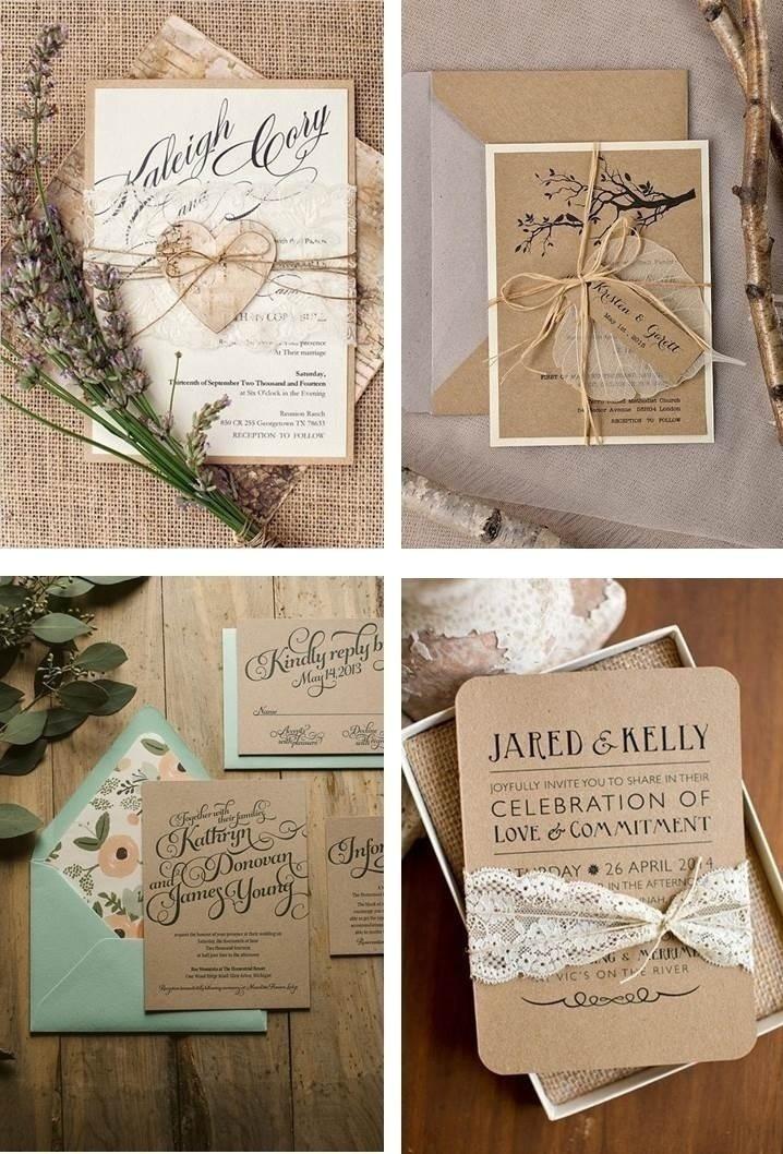 RUSTIC-CHIC WEDDING INVITATIONS
