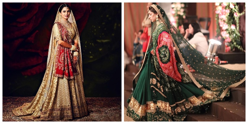 These brides opted to wear a Bandhani lehenga for their Wedding and totally slayed their bridal look!
