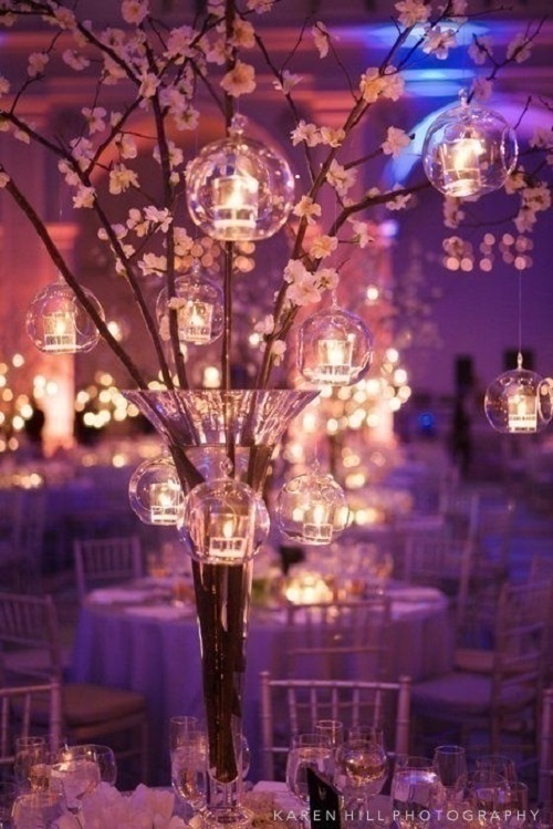 ORIENTAL THEMED WEDDING CENTREPIECES