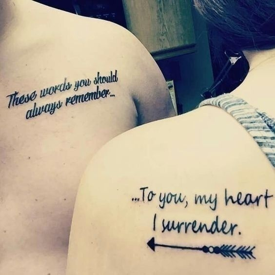 Couple Tattoos For The Much In Love Soulmates Its Not As Difficult