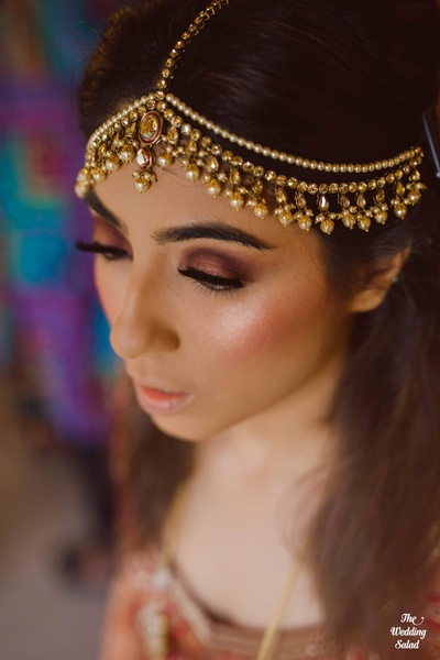 Bride getting ready for the wedding function at The Royal Elm, Karjat