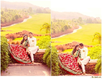 Lush green landscape venue for wedding