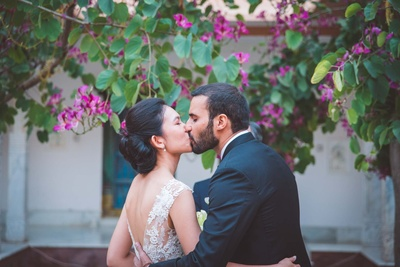 cute couple photography while kissing