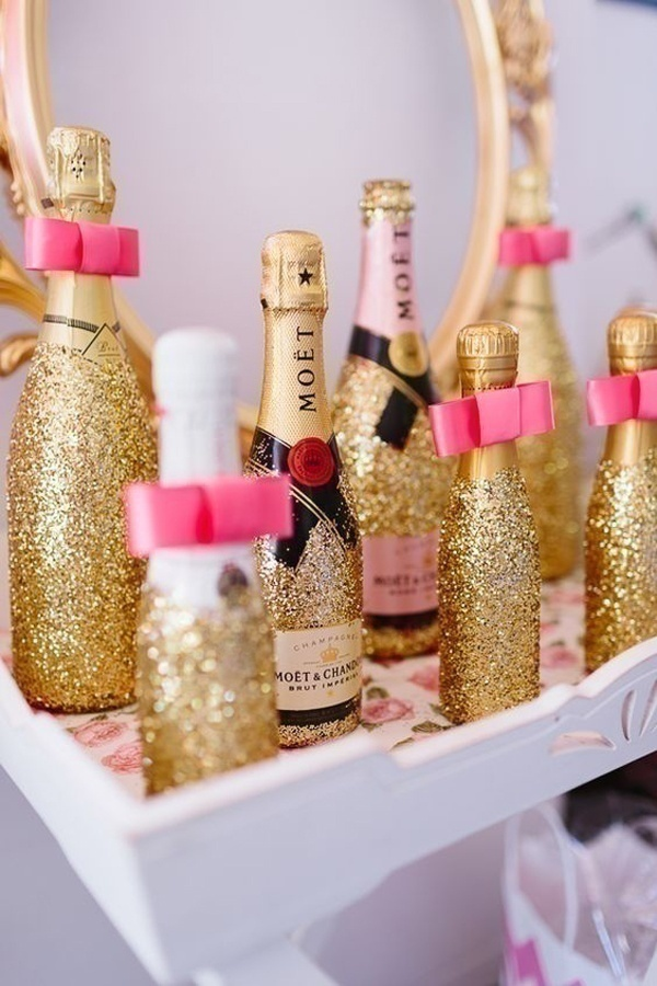 Dip The Bottle In Glitter To Fancy Things Up!