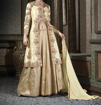 Viva N Diva cream colored Lehenga
