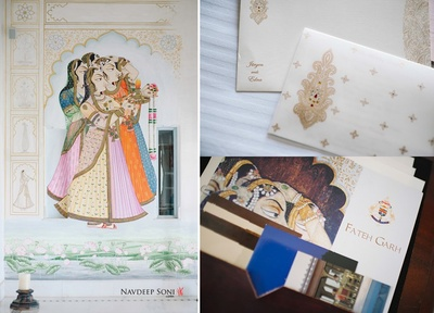 Couple's grand wedding celebrations held at the royal FatehGarh