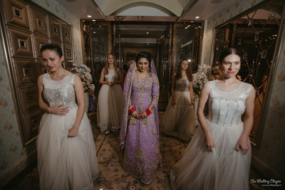 Mansi enters with her bridemaides