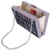 Ank Textured Silver Clutch image