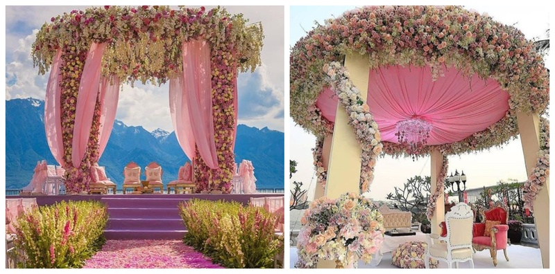The most gorgeous outdoor wedding mandap decoration ideas we came across