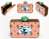 Classy Mint hand painted wooden box clutch image