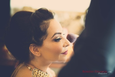 Bridal makeup by Prerna Khullar.